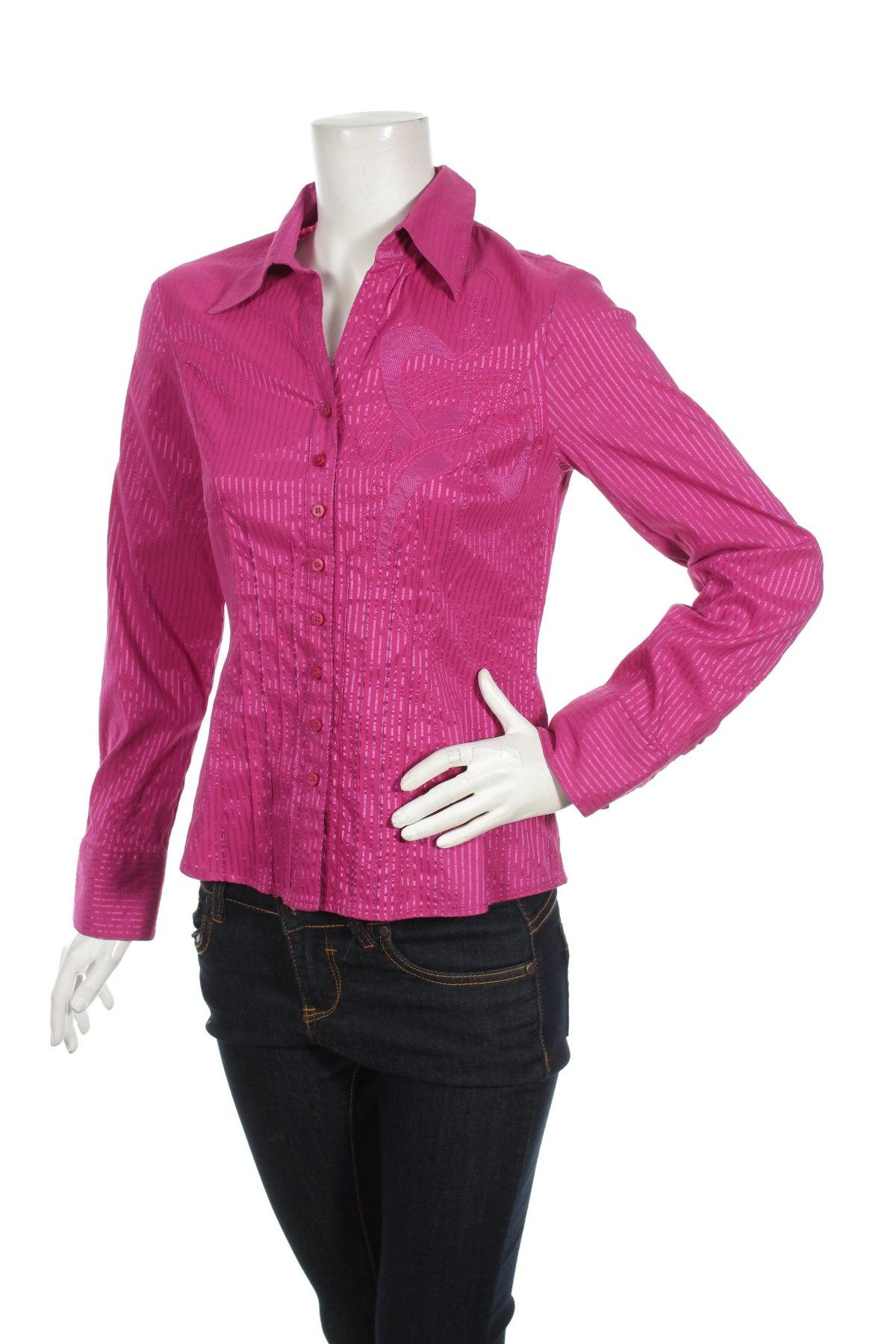 Γυναικείο πουκάμισο Bianca, Μέγεθος S, Χρώμα Ρόζ , 38% πολυαμίδη, 32% βαμβάκι, 27% πολυεστέρας, 2% 3% ελαστάνη, Τιμή 24,74€