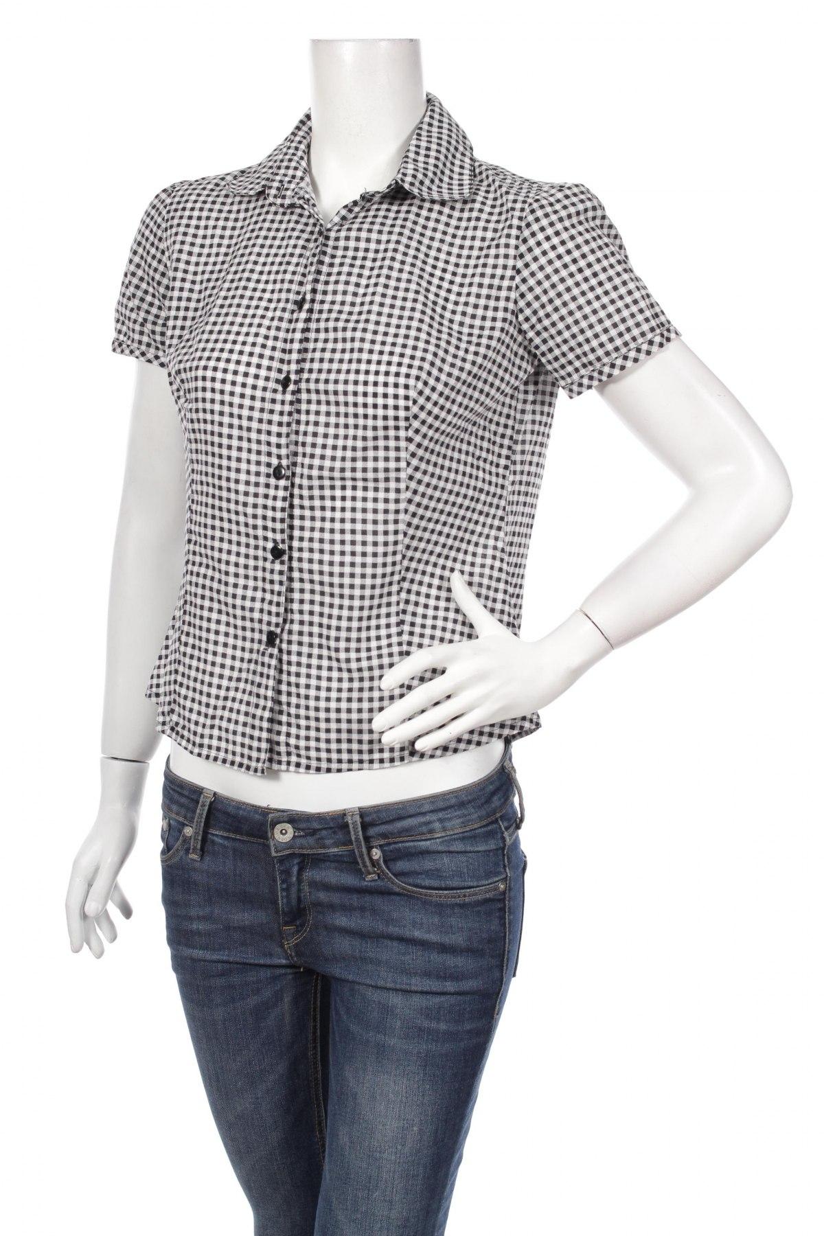 Γυναικείο πουκάμισο Pimkie, Μέγεθος M, Χρώμα Μαύρο, Τιμή 9,90€