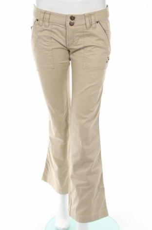Дамски панталон Zara Trafaluc, Размер M, Цвят Бежов, 98% памук, 2% еластан, Цена 11,04лв.