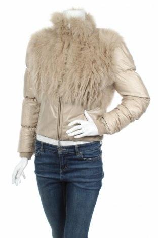 Дамско яке Richmond, Размер M, Цвят Бежов, Естествена кожа, естествен косъм, текстил, пух и пера, Цена 316,55лв.
