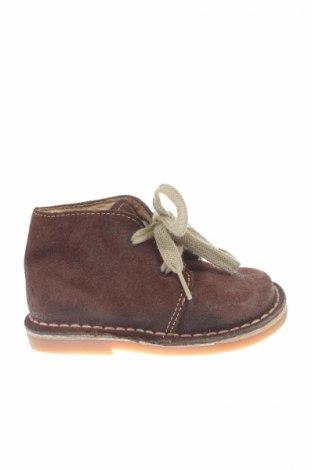 Детски обувки Okaou, Размер 22, Цвят Кафяв, Естествен велур, Цена 12,00лв.