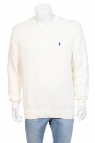 Мъжки пуловер Polo By Ralph Lauren, Размер L, Цвят Бял, Памук, Цена 79,95лв.