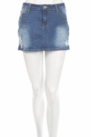 Φούστα Miss Anna, Μέγεθος L, Χρώμα Μπλέ, 98% βαμβάκι, 2% ελαστάνη, Τιμή 7,74€