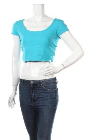 Дамска блуза Ann Christine, Размер M, Цвят Син, 92% памук, 8% еластан, Цена 3,15лв.