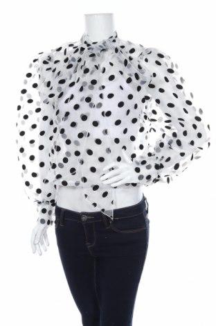 Γυναικεία μπλούζα Boohoo, Μέγεθος M, Χρώμα Λευκό, 100% πολυεστέρας, Τιμή 15,59€
