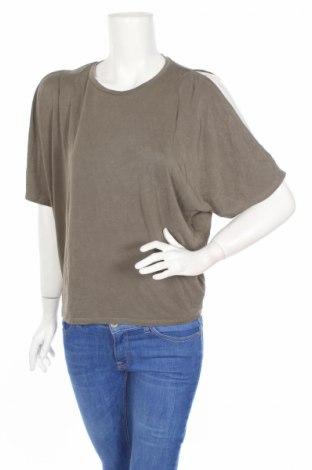 Дамска блуза Decjuba, Размер S, Цвят Зелен, 65% модал, 35% полиестер, Цена 12,60лв.