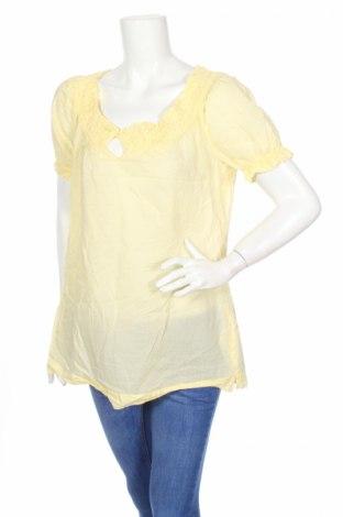 Дамска блуза Esprit, Размер L, Цвят Жълт, Памук, Цена 4,99лв.