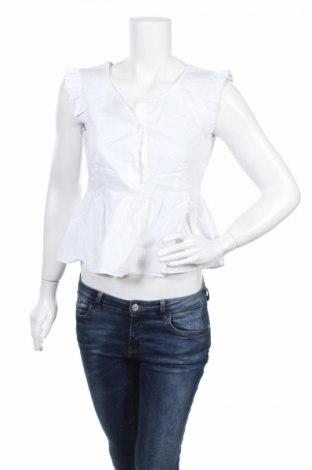 Дамска блуза Liu Jo, Размер M, Цвят Бял, 68% памук, 29% полиамид, 3% еластан, Цена 36,60лв.