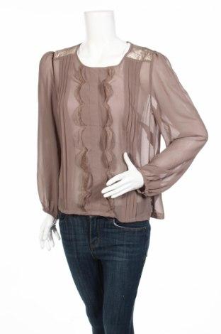 Дамска блуза Marks & Spencer Autograph, Размер L, Цвят Кафяв, Полиестер, Цена 9,00лв.