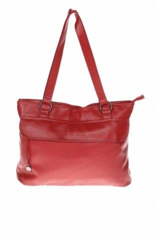 Дамска чанта Daniel Hechter, Цвят Червен, Еко кожа, Цена 22,80лв.