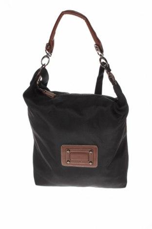 Дамска чанта Tom Tailor, Цвят Черен, Текстил, еко кожа, Цена 28,50лв.