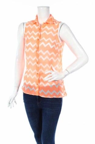 Дамска риза Zebra, Размер S, Цвят Оранжев, Полиестер, Цена 4,20лв.