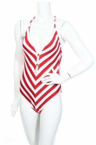 Дамски бански Tommy Hilfiger x Gigi Hadid, Размер L, Цвят Червен, 82% полиамид, 18% еластан, Цена 97,20лв.