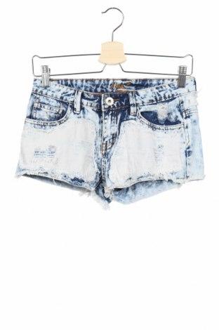 Γυναικείο κοντό παντελόνι Chi Qle, Μέγεθος S, Χρώμα Μπλέ, 98% βαμβάκι, 2% ελαστάνη, Τιμή 9,35€