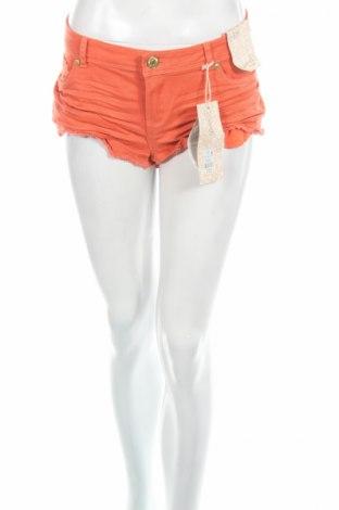 Γυναικείο κοντό παντελόνι Denim Co, Μέγεθος L, Χρώμα Πορτοκαλί, 99% βαμβάκι, 1% ελαστάνη, Τιμή 5,52€