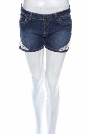 Női rövidnadrág Esmara, Méret L, Szín Kék, 98% pamut, 2% elasztán, Ár 2244 Ft