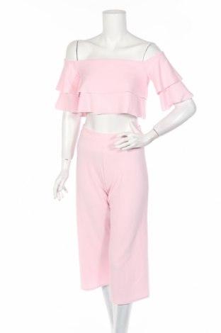 Дамски комплект Boohoo, Размер M, Цвят Розов, 95% полиестер, 5% еластан, Цена 43,20лв.