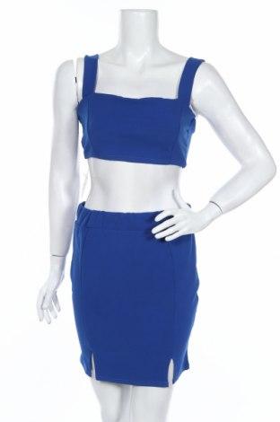 Дамски комплект Boohoo, Размер M, Цвят Син, 95% полиестер, 5% еластан, Цена 8,70лв.