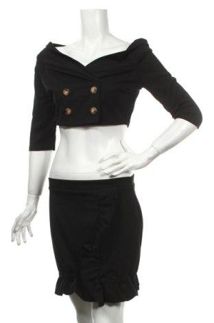 Дамски костюм Boohoo, Размер XL, Цвят Черен, 95% полиестер, 5% еластан, Цена 43,20лв.