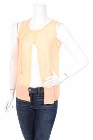 Γυναικείο αμάνικο μπλουζάκι Soya Concept, Μέγεθος S, Χρώμα Πορτοκαλί, Τιμή 3,00€