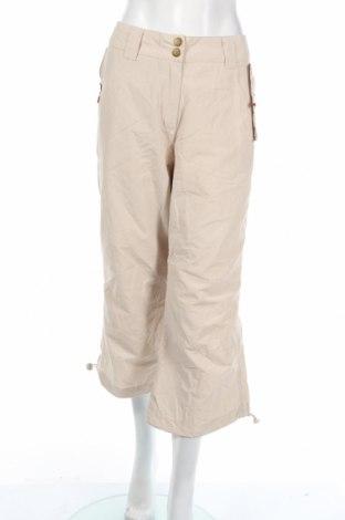 Дамски спортен панталон KappAhl, Размер L, Цвят Бежов, 70% памук, 30% полиамид, Цена 3,15лв.