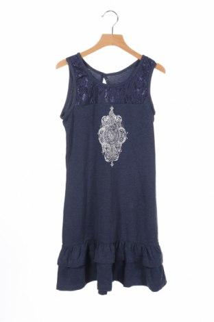 Rochie de copii Pepperts!, Mărime 10-11y/ 146-152 cm, Culoare Albastru, 56% bumbac, 40% poliester, 4% elastan, Preț 68,63 Lei