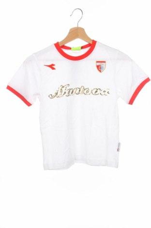 Детска тениска Diadora, Размер 7-8y/ 128-134 см, Цвят Бял, Памук, Цена 11,20лв.