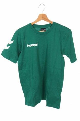 Detské tričko Hummel, Veľkosť 13-14y/ 164-168 cm, Farba Zelená, Bavlna, Cena  5,77€