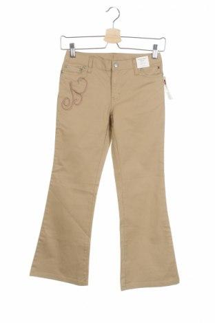 Детски дънки Tommy Hilfiger, Размер 8-9y/ 134-140 см, Цвят Бежов, 97% памук, 3% еластан, Цена 24,05лв.