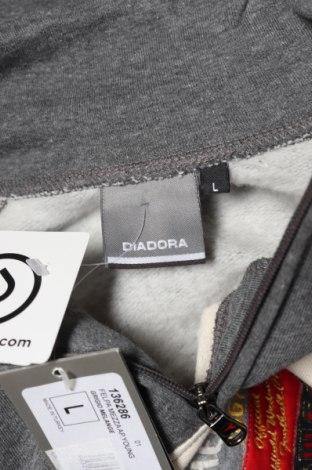 Мъжка блуза Diadora, Размер L, Цвят Сив, 70% памук, 30% полиестер, Цена 17,15лв.