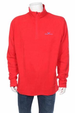 Мъжка поларена блуза Black Crevice, Размер XXL, Цвят Червен, Полиестер, Цена 17,60лв.