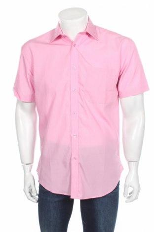 Мъжка риза Russell Collection, Размер S, Цвят Розов, 67% текстил, 33% памук, Цена 12,92лв.