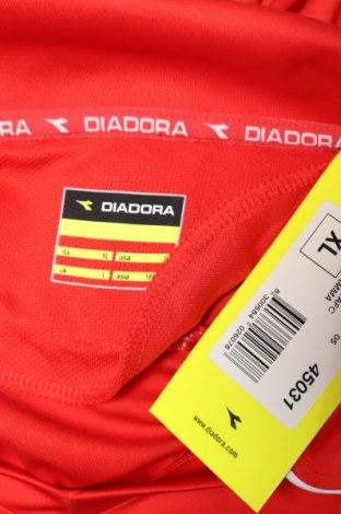 Мъжка спортна блуза Diadora, Размер XL, Цвят Червен, 100% полиестер, Цена 17,15лв.