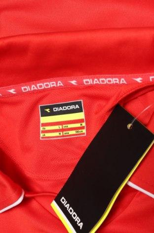 Мъжка спортна блуза Diadora, Размер L, Цвят Червен, 100% полиестер, Цена 17,15лв.