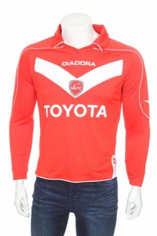 Мъжка спортна блуза Diadora, Размер S, Цвят Червен, 100% полиестер, Цена 17,15лв.