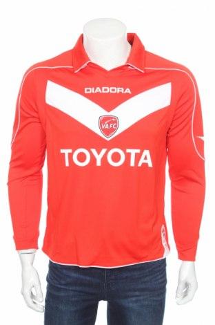 Мъжка спортна блуза Diadora, Размер M, Цвят Червен, 100% полиестер, Цена 17,15лв.