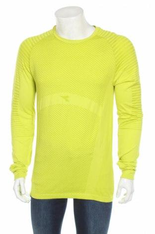 Pánske športové tričko  Diadora, Veľkosť XXL, Farba Zelená, 67% polyamide, 33% iné tkanivá , Cena  8,84€