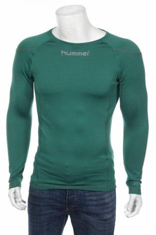 Bluză trening de bărbați Hummel, Mărime S, Culoare Verde, 92% poliester, 8% elastan, Preț 60,63 Lei