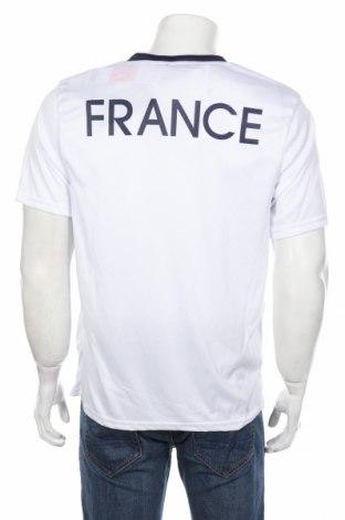 Мъжка тениска FFF France, Размер L, Цвят Бял, Полиестер, Цена 10,20лв.