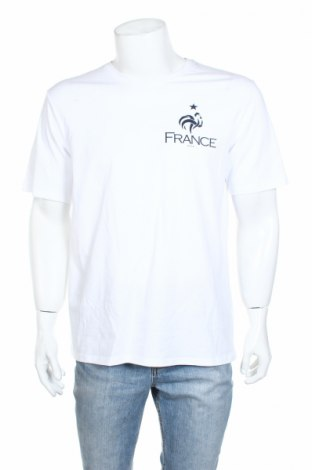 Мъжка тениска FFF France, Размер L, Цвят Бял, Памук, Цена 11,70лв.