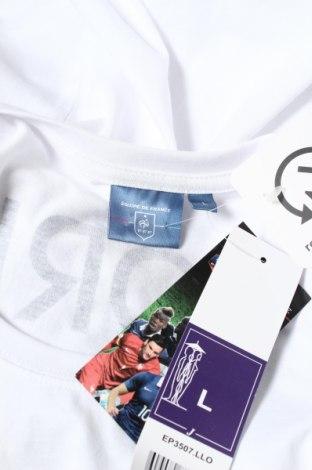 Мъжка тениска FFF France, Размер L, Цвят Бял, Памук, Цена 13,65лв.