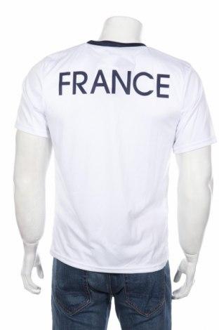 Мъжка тениска FFF France, Размер M, Цвят Бял, Полиестер, Цена 10,20лв.