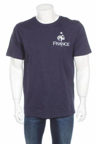 Мъжка тениска FFF France, Размер L, Цвят Син, Памук, Цена 7,80лв.
