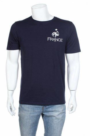 Мъжка тениска FFF France, Размер M, Цвят Син, Памук, Цена 11,70лв.