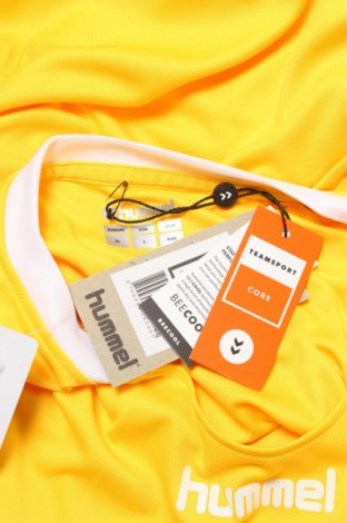 Мъжка тениска Hummel, Размер XL, Цвят Жълт, Полиестер, Цена 25,50лв.
