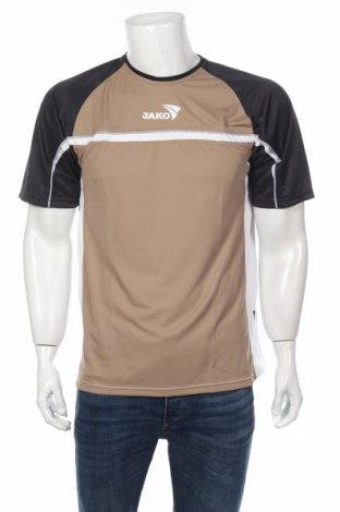 Мъжка тениска Jako, Размер M, Цвят Бежов, 100% полиестер, Цена 27,00лв.