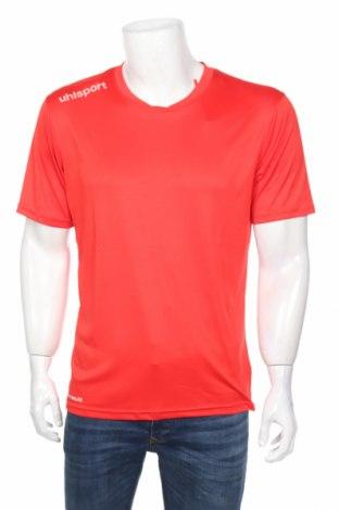 Мъжка тениска Uhlsport, Размер M, Цвят Червен, Полиестер, Цена 24,00лв.