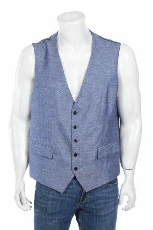 Pánská vesta  Skopes, Rozměr XL, Barva Modrá, 51% polyester, 27% viskóza, 22% len, Cena  350,00Kč