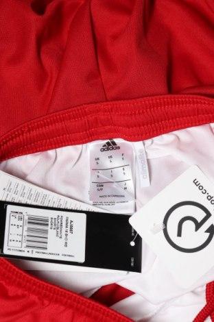 Мъжки къс панталон Adidas, Размер S, Цвят Червен, Полиестер, Цена 51,75лв.