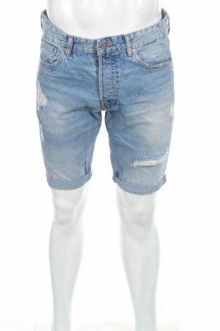 Pantaloni scurți de bărbați H&M, Mărime M, Culoare Albastru, 100% bumbac, Preț 56,70 Lei